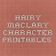 Hairy Maclary character printables