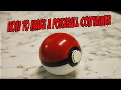 How to make a Pokeball container - YouTube