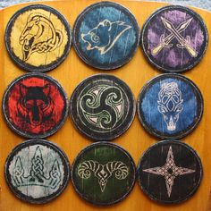 skyrim hold shields patches pattern - Google Search