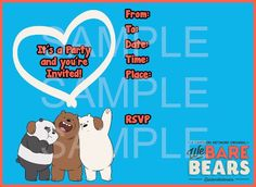 WE BARE BEARS Party Kit Printable in English. Instant download! | Susaneda's Printables