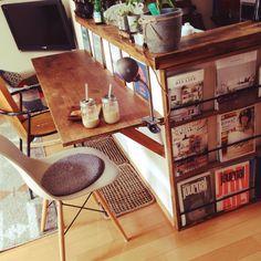 カウンターテーブル/カウンターテーブル DIY/多肉植物/雑貨/椅子…などのインテリア実例 - 2015-05-06 10:49:49 | RoomClip(ルームクリップ) Diy Interior, Kitchen Interior, Room Interior, Interior Architecture, Interior And Exterior, Interior Design, Victorian Kitchen, Japanese Kitchen, Built In Furniture