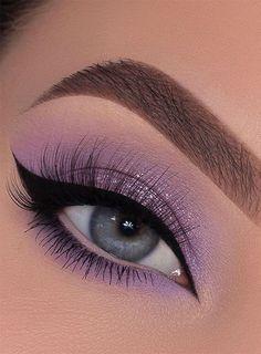 Makeup Looks For Green Eyes, Purple Eye Makeup, Makeup Eye Looks, Eyeshadow Looks, Eyeshadow Makeup, Eye Makeup Images, Eye Makeup Designs, Eye Makeup Art, Makeup Geek