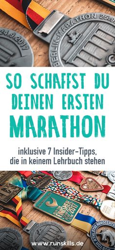 Marathon-Training: So schaffst du deinen ersten Marathon! We have the best tips for you on how you are guaranteed to make your first marathon. Everything about training, motivation and nutrition Marathon Training Diet, Marathon Training Plan Beginner, Strength Training For Beginners, Marathon Diet, Marathon Signs, Marathon Quotes, Marathon Tattoo, Marathon Logo
