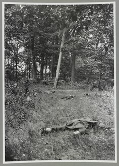 Confederate dead on Matthew's Hill, Bull Run