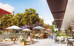 The Market Square at Washington Park will be a place to relax, unwind and smell the roses. Drawing inspiration from the great squares of the U.S. and Europe,