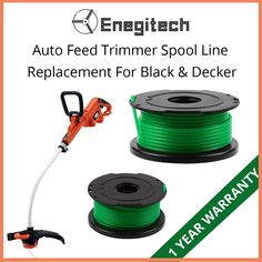 Buy this Enegitech 20ft Auto Feed String Trimmer Spool Line Replacement for Black & Decker at an affordable price. Visit https://goo.gl/uaKoxw to place your order now. #trimmer #autofeedstringtrimmer #trimmerreplacementspool