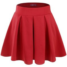 Doublju Womens Sexy Mini Flared Skirt at Amazon Women's Clothing... ($14) ❤ liked on Polyvore featuring skirts, mini skirts, sexy skirt, flared mini skirt, red circle skirt, skater skirt and circle skirt