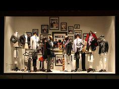 the men's ex, pinned by Ton van der Veer Visual Merchandising Fashion, Merchandising Displays, Store Displays, Window Display Retail, Retail Windows, Clothing Boutique Interior, Fashion Retail Interior, Suit Stores, Modern Store