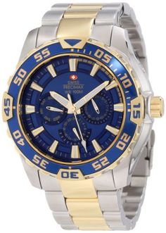 Swiss Precimax Men's SP12148 Formula-7 XT Blue Dial with Two-Tone Stainless Steel Band Watch Swiss Precimax. $159.99