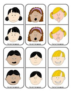 Emotions Dominoes Freebie from TheSLTScrapbook on TeachersNotebook.com (12 pages)