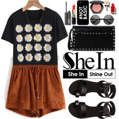 Shein by oshint on Polyvore featuring H&M, Valentino, Joolz by Martha Calvo, NARS Cosmetics, Bobbi Brown Cosmetics, Sheinside and shein