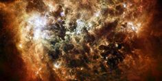 Dusty Space Cloud This image shows the Large Magellanic Cloud galaxy in infrared light as seen by the Herschel Space Observatory, a Europea...
