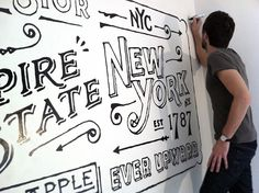 Ace Hotel NY, loved the Portland Ace Hotel. youngjerks.com Master typographer Dan Cassaro