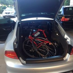 Only an Audi A7 can fit a bike this easy.
