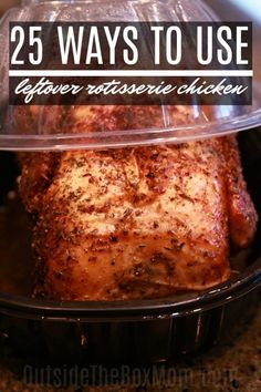 These leftover rotisserie chicken recipes will help you feed your family fast. Most can be prepared in less than 30 minutes, started in your crockpot or instant pot, and will bring dinner… Costco Rotisserie Chicken Recipe, Cooked Chicken Recipes Leftovers, Shredded Chicken Recipes, Roast Chicken Recipes, Leftovers Recipes, Roasted Chicken, Recipes With Leftover Chicken, Grilled Chicken, Baked Chicken