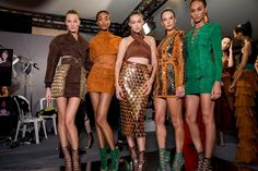 Constance Jablonski, Jourdan Dunn, Gigi Hadid, Alessandra Ambrosio and Joan Smalls backstage at Balmain spring/summer 2016 collection - Paris fashion week. #balmain
