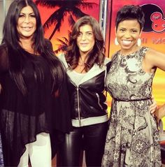 Jacque Reid looks great wearing our Hope dress on New York Live this week! #DonnaMorgan