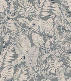 Rasch Jungle Sage Green Wallpaper Rasch Jungle wallpaper shown here in sage green and light beige. Sage Green Wallpaper, Palm Leaf Wallpaper, Tropical Wallpaper, Luxury Wallpaper, Grey Wallpaper, Textured Wallpaper, Pattern Wallpaper, Textured Background, Bedroom Wallpaper