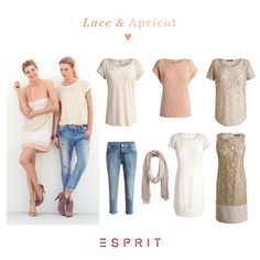 Take a look at our new seductive lace and apricot collection and discover tender dresses, skirts and tops in pastel colors. #Esprit