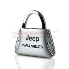 Jeep Wrangler Clear Crystals Purse Shape Key Chain | AG-KC9120-WRA | $11.95