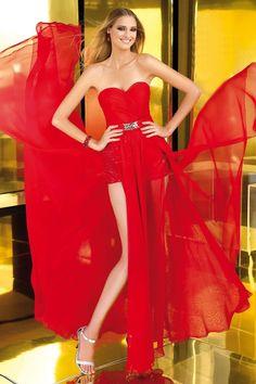 Stunning A-line Floor-length Sweetheart Chiffon Dress