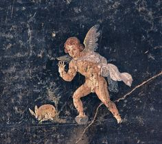 Roman Fresco  --  Excavated from #Pompeii  --  No further reference provided.