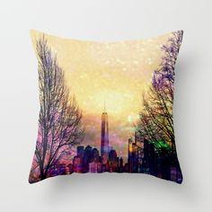 Space Manhattan Throw Pillow
