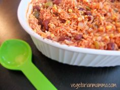 spanish rice with olives and corn gluten free vegan