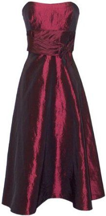 Amazon.com: 50's Strapless Taffeta Formal Gown Holiday Party Cocktail Dress Bridesmaid Prom: Clothing  Hem it up and make it gold