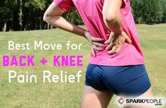 Training to Relieve Back & Knee Pain | via @SparkPeople