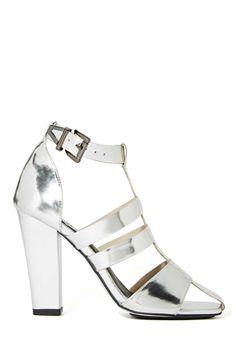 Shop now: Sol Sana metallic heel