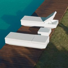 Vela Sunbed Table By Ramon Esteve Tables Vondom Products Library Table, Get Outdoors, Interior Exterior, Indoor Outdoor, Furniture Design, Recycling, Tables, Led Technology, Chaise Lounges