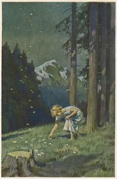 German children's book illustrator Hermann Vogel, (1854-1921) grew up in Saxony and studied at the art academy in Dresden. Vogel's illustrations are in the tradition of German Romantism, and their best known artists – Ludwig Richter, Moritz Von Schwind and Carl Spitzweg. Albert Hurter introduced these artists and their illustration style to the Disney studio and they influenced very much the look of the first animated feature films.