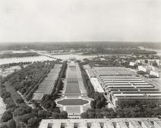 Great View of Jefferson Memorial and Capitol Building from Washington Monument (1942) - Ghosts of DC