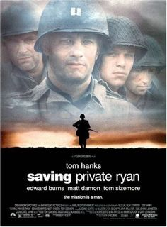 Directed by Steven Spielberg.  With Tom Hanks, Matt Damon, Tom Sizemore, Edward Burns. Following the Normandy Landings, a group of U.S. soldiers go behind enemy lines to retrieve a paratrooper whose brothers have been killed in action.