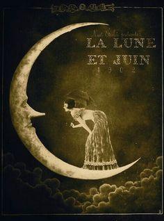 Details about lady on the moon ad 1902 в 2019 г. moon moon a Sun Moon Stars, My Sun And Stars, Art Vintage, Vintage Posters, Shabby Vintage, Style Vintage, Vintage Ephemera, Art Nouveau, Art Deco