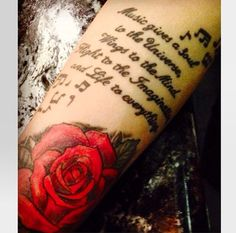 Rose and quote