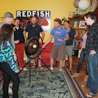 The rituals of recruiting - celebrating placements in exciting high tech companies, Redfish Technology bangs the gong!-  More photos on Google+ https://plus.google.com/photos/+Redfishtech/albums/5821530477823120337 Go Rob Reeves!