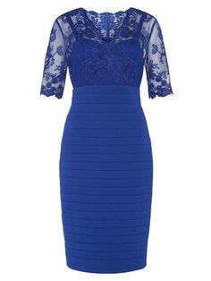 Lace & Jersey Dress Kaliko