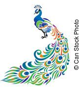 Peacock Illustrations and Clipart. peacock royalty free illustrations, drawings and graphics available to search from over 15 vector E. Peacock Painting, Peacock Art, Peacock Design, Fabric Painting, Peacock Outline, Peacock Crafts, Peacock Colors, Bird Design, Vogel Illustration