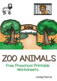 Zebra, Hippo and Crocodiles- how many zoo animals can your preschooler name? Try these free zoo animals preschool printable worksheets