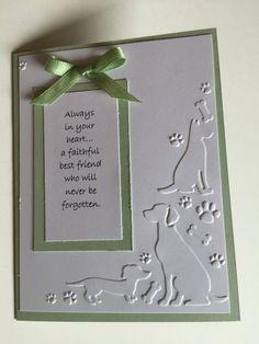 Sympathy Card, Animal Sympathy, Dog Sympathy, Loss of a Pet, Handcrafted Card