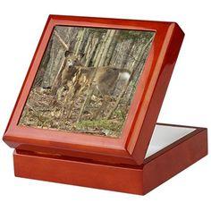 Whitetail Deer Keepsake Box on CafePress.com
