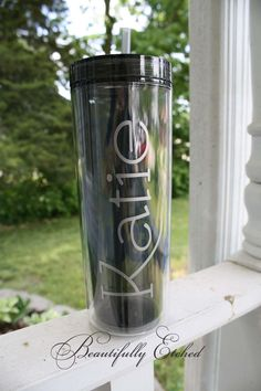 16 oz. Double Wall Skinny Tumbler available from www.facebook.com/etchedbeautifully