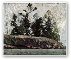 Quality print by Group Of Seven artist Tom Thomson - Spring French River; Made In Canada. Canadian Painters, Canadian Artists, Landscape Art, Landscape Paintings, Small Paintings, Acrylic Paintings, Landscapes, Group Of Seven Artists, Tom Thomson Paintings