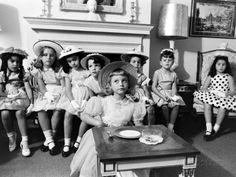 charm school for little girls. Early 1960s.