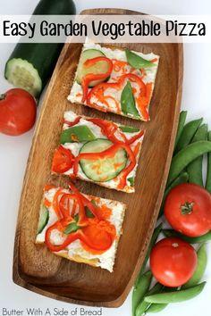 Easy Garden Vegetable Pizza ~ simple recipe