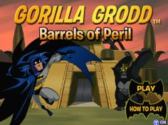 Gorilla Grodd - Barrels of Peril : Batman needs your help to rescue his fellow heroes! Gorilla Grodd has captured Batman's crime fighting team. Grab all of the Batarangs to build an arsenal and help them escape! Online Games For Kids, Play Online, Batman Games, Brave And The Bold, Doraemon, Animation Series, Barrels, Arsenal, Crime