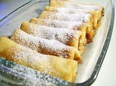 Pancakes with cheese baked Romanian Desserts, Romanian Food, Dessert Bread, Dessert Bars, Russian Cakes, Cake Recipes, Dessert Recipes, Good Food, Yummy Food