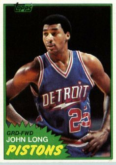 1981/82 Topps Basketball Card # MW83 John Long Detroit Pistons In A Protective Display Case! by SCORE. $1.39. 1981/82 Topps Basketball Card # MW83 John Long Detroit Pistons In A Protective Display Case!